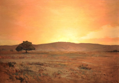 "<b>LET IT SHINE:</b>  ""California Sunset, Santa Barbara"" (1923) is just one of the works in Luminescent Santa Barbara: Lockwood de Forest, on view now at the Santa Barbara Historical Museum."
