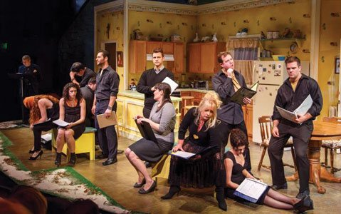 <b>MAKING OF A MUSICAL:</b> The original musical <i>City of Light</i> (pictured here in a 2013 concert reading at The Colony Theatre in Burbank) will get a new concert reading at SBCC's Garvin Theatre this Saturday, January 25, as part of PlayFest Santa Barbara.