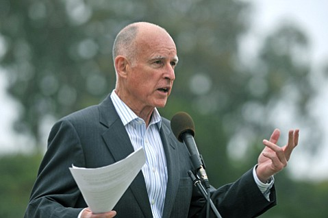 <b>FOUR-PEAT?</b>  Jerry Brown is vying to become California's first-ever four-time governor.