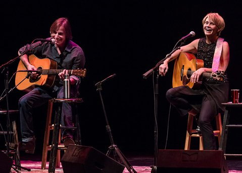 Jackson Browne and Shawn Colvin