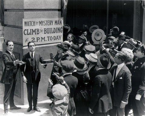 A still from <em>Safety Last!</em>, starring Harold Lloyd