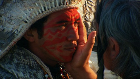 Haru, Tribal Leader of the Kutanawa of Peru/Amazon who traveled to Greenland to support the Fire and Ice Ceremony!
