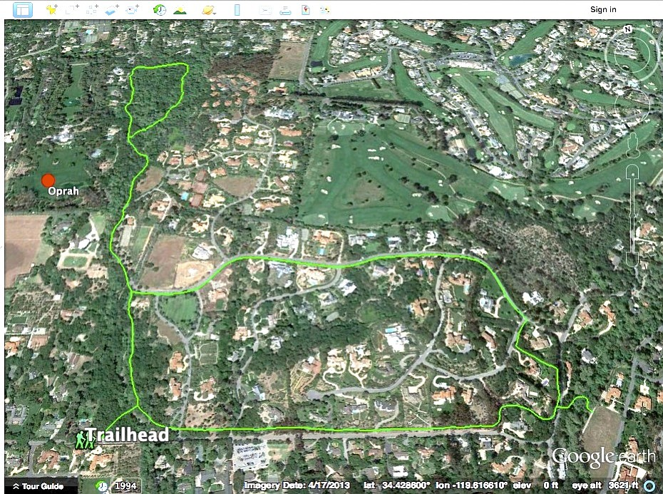 Ennisbrook trails and a features created in Google Earth using a few simple line and point tools. These trails can be and uploaded to your phone and shared with others.