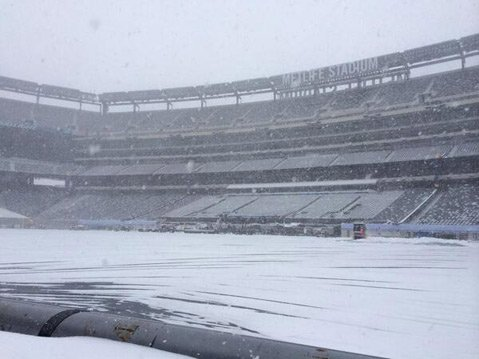 <b>SUPER SNOW BOWL:</b>  MetLife Stadium was sportin' the white stuff during arctic blasts this week, and winter will only deepen as Super Bowl Sunday approaches.