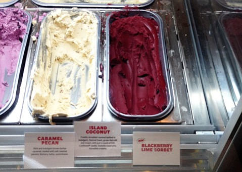 State Street ice cream shoppe introduces blackberry lime sorbet and lime pie ice cream.