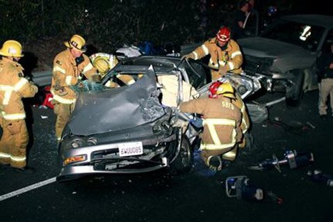 Aftermath of Friday morning's wrong-way driver accident