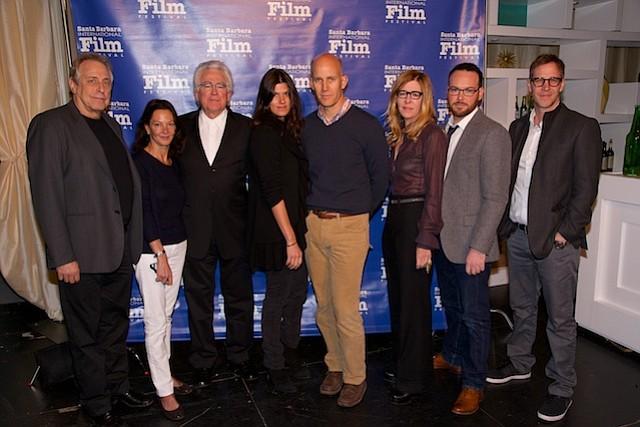 (left to right) Charles Raven, Gaby Tana, Ron Yerxa, Robbie Brenner, John Horn, Dede Gardner, Dana Brunetti, Joey McFarland