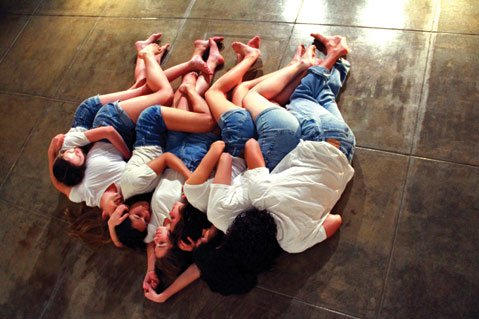 <b>AWKWARD MOMENTS:</b> Teen actors Stephanie McPhee, Ruby Haber, Katya Tashma-Rapp, Lily Linz, Shuba Brady, Eva Enriquez, and Skylar Rousseau star in Proximity Theatre's Teen Age.