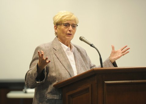 <b>REWORK:</b>  Janine Geske, a retired Supreme Court Justice from Wisconsin, talked about shifting the emphasis from the offender to the victim.