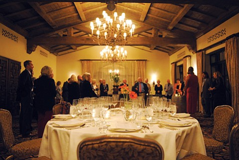 <b>GLASSES GALORE:</b> Expect to try a half-dozen or so wines during the Food & Wine Safari series, the next installment of which is February 20.