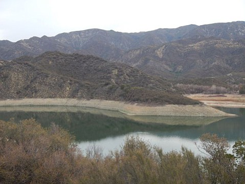 Jameson Lake is formed by Juncal Dam and supplies Montecito with water.