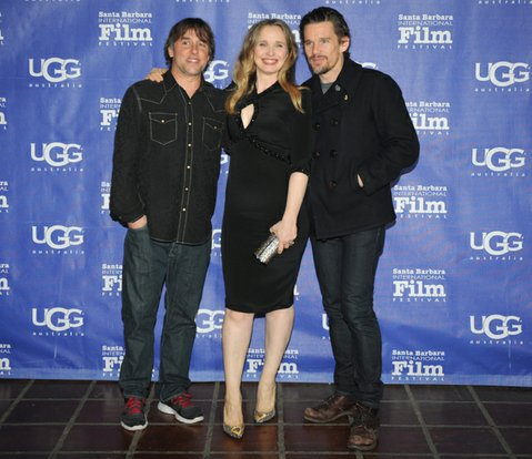 SBIFF 2014 Closing Night movie After Midnight. In attendance screenwriters Richard Linklater, Julie Delpy and Ethan Hawke.