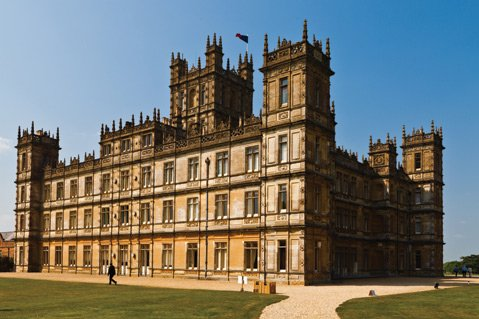 <b>THE GRAND MANSION:</b> Highclere Castle in Hampshire, England, is used for the exterior and interior shots of Downton Abbey.