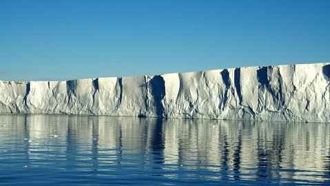 The edge of the Pine Island Glacier ice shelf.