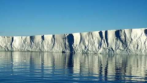 The edge of the Pine Island Glacier ice shelf.