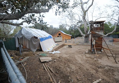 <b>Halted Razing:</b>  Demolition of the 19th-century Juarez-Hosmer Adobe and water tower is on hold until the matter goes before the Board of Supervisors in April.