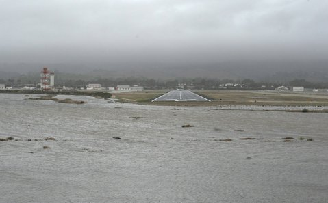 The Santa Barbara Airport was in very real danger of flooding this morning before county officials gave an emergency order to breach the Goleta Slough and let it flow into the ocean.