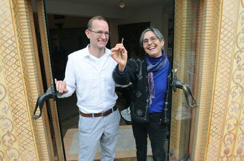 The Santa Barbara Yoga Center's new owners Jivana Heyman and Barbara Hirsch (Feb. 28, 2014)