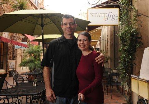 Patrick Casey and Marisa Moran