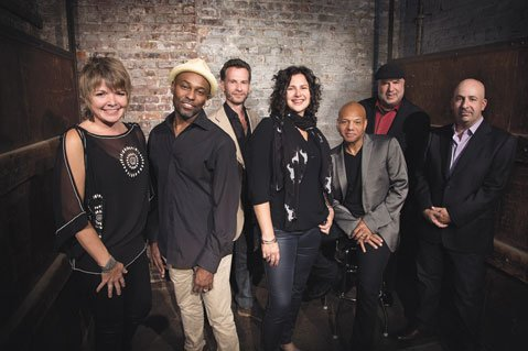 <b>NOW HEAR THIS:</b> The Newport Jazz Festival's Now 60 band is (from left) Karrin Allyson, Clarence Penn, Larry Grenadier, Anat Cohen, Mark Whitfield, Randy Brecker, and Peter Martin.