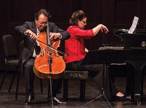 Yo-Yo Ma and Kathryn Stott at the Granada Theatre