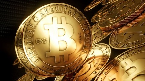 Bitcoins only exist in cyberspace as lines of encrypted code.