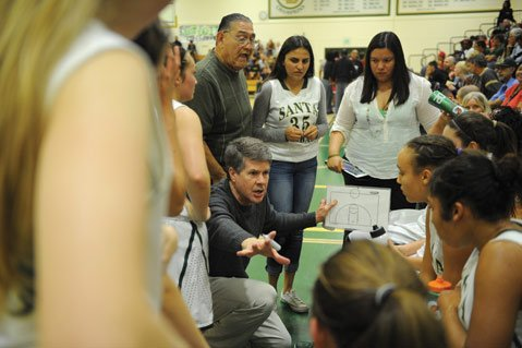 "<b>JUST KEEP WINNING:</b> ""We're playing teams that are bigger than us and stronger than us, and I don't know how we're winning these games,"" said SBHS girls' basketball coach Andrew Butcher of his winning team. Last week, the Dons beat Mount Miguel from San Diego County, securing the Southern California CIF championship. They play for the state title against Modesto Christian's Crusaders Friday, March 28."