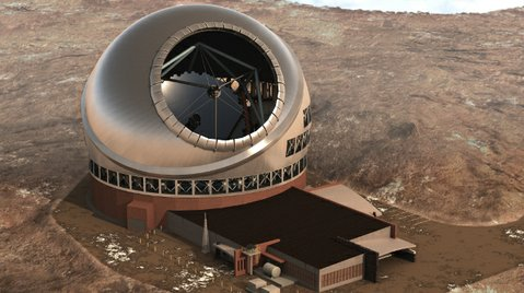 Artist rendering of Thirty Meter Telescope