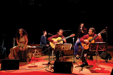 <b>ALL TOGETHER NOW: </b> (From left) Badi Assad, Clarice Assad, Odair Assad, Carolina Assad, and Sérgio Assad will bring their A Brazilian Songbook show to Campbell Hall on April 9.