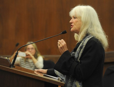 <b>TREATMENT NOT JAIL: </b> Nancy Speer, whose mentally ill son nearly died in county jail after having stolen a Food Bank truck, argued on Tuesday that alternatives to jail are cheaper and more humane.