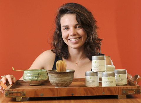 Lauren Danson, owner of Mizuba Tea Company.