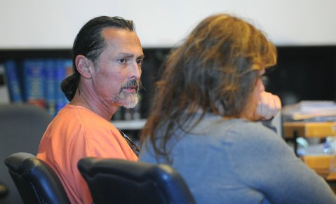 Doug Stekkinger sits in court on Friday with defense attorney Deedrea Edgar