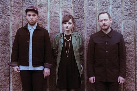 The Glasgow trio Chvrches headlines the Ventura Theater on April 15.