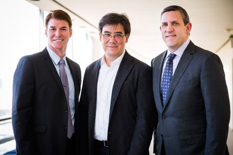 MUSICAL UNION: (FROM LEFT) MAW's Scott Reed teams up with New York Philharmonic Music Director Alan Gilbert and New York Philharmonic Executive Director Matthew VanBesien.