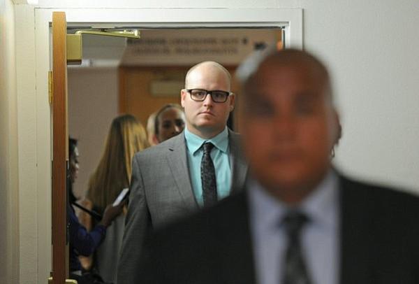 Robert Kirsch leaves a Santa Barbara courtroom after his August arraignment