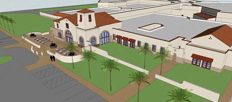 <b>Red Roofs:</b>  Sheriff Bill Brown presented supervisors with artists' renderings of the new jail designed with a mission theme.