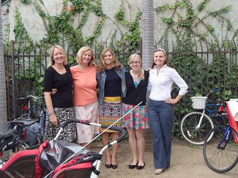 The Long Rangers team (from the county's Long Range Planning Division) riding in the 2014 Bike Challenge is Rosie Dyste (left), Stephanie Stark, Heather Allen, Katie Hentrich, and Oksana Buck.