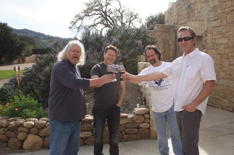 <b>WONDER BROS:</b> Santa Barbara County winemakers (from left) Jim Clendenen, Mark Horvath, Larry Schaffer, and Bion Rice joined forces with eight others to produce the second annual Legacy wine to benefit the Family School in Los Olivos.