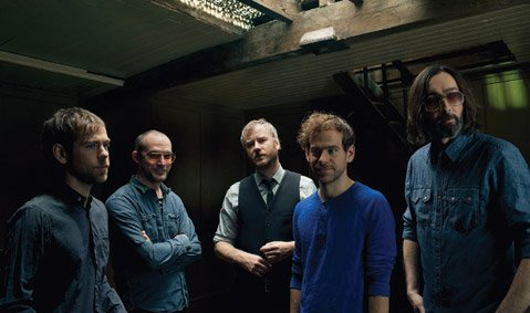 <b>THEY'VE DONE IT AGAIN:</b>  The National (from left: Aaron Dessner, Scott Devendorf, Matt Berninger, Bryce Dessner, and Bryan Devendorf) head to the Santa Barbara Bowl on Friday in support of their Grammy-nominated album,<i>Trouble Will Find Me</i>.