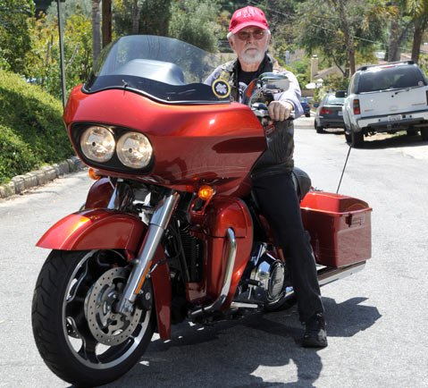 "<b>ROAD GLIDE:</b>  Among the thousands of Vietnam-era vets rumbling along in the Run for the Wall to the memorial wall in D.C. will be LeRoy ""Snuffy"" Robles."