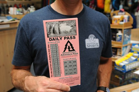 Adventure Passes sold at Mountain Air Sports