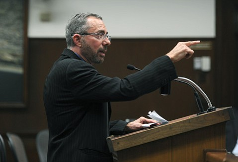 <b>POINTED WORDS:</b> Attorney A. Barry Cappello told the council he plans on challenging the city's at-large election system in court, saying a system based on districts would make room for more minority candidates.