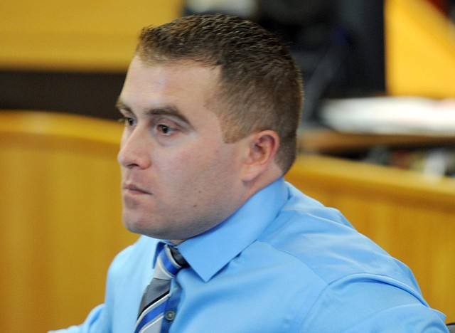 Justin Sell appears in court on Monday, May 12
