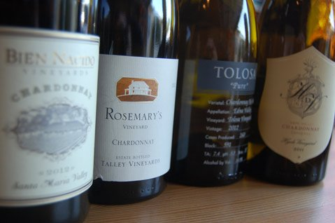 <b>WHITE WINING:</b>  Wine from Bien Nacido, Tally, Tolosa, and Hyde de Villaine will be served as part of this weekend's Chardonnay Symposium in Pismo Beach.