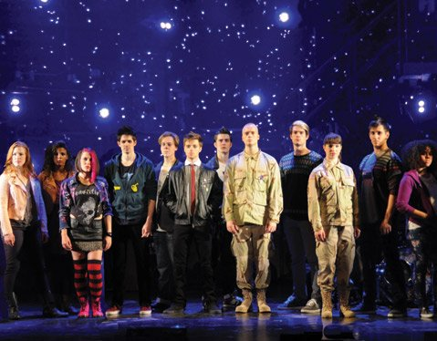 <b>TIME OF YOUR LIFE:</b>  The whole cast is onstage for most of the show in the musical adaptation of Green Day's album <i>American Idiot</i>.