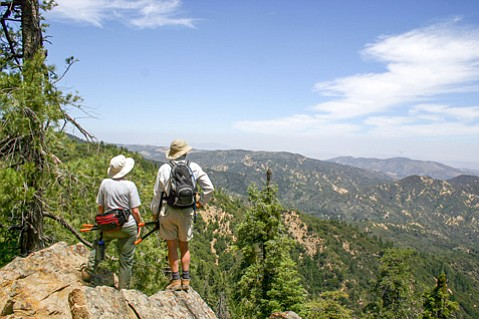 <b>PROPOSED PRESERVATION:</b>  Hikers look out over the Cuyama area, which would receive more protection under Capps's new bill.
