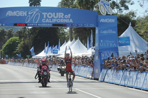 Taylor Phinney wins Stage 5 of the Amgen Tour