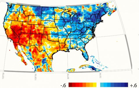 Spring-summer rainfall trends for the U.S.