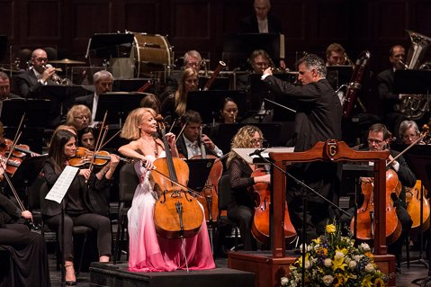 BIG FINISH: Cellist Sara Sant'Ambrogio delivered a thrilling solo during the Santa Barbara Symphony's season finale concert at the Granada.