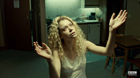CHAMELEON-LIKE: Tatiana Maslany as Helena, one of eight dopplegangers the young actress portrays in BBC America's <em>Orphan Black</em>.
